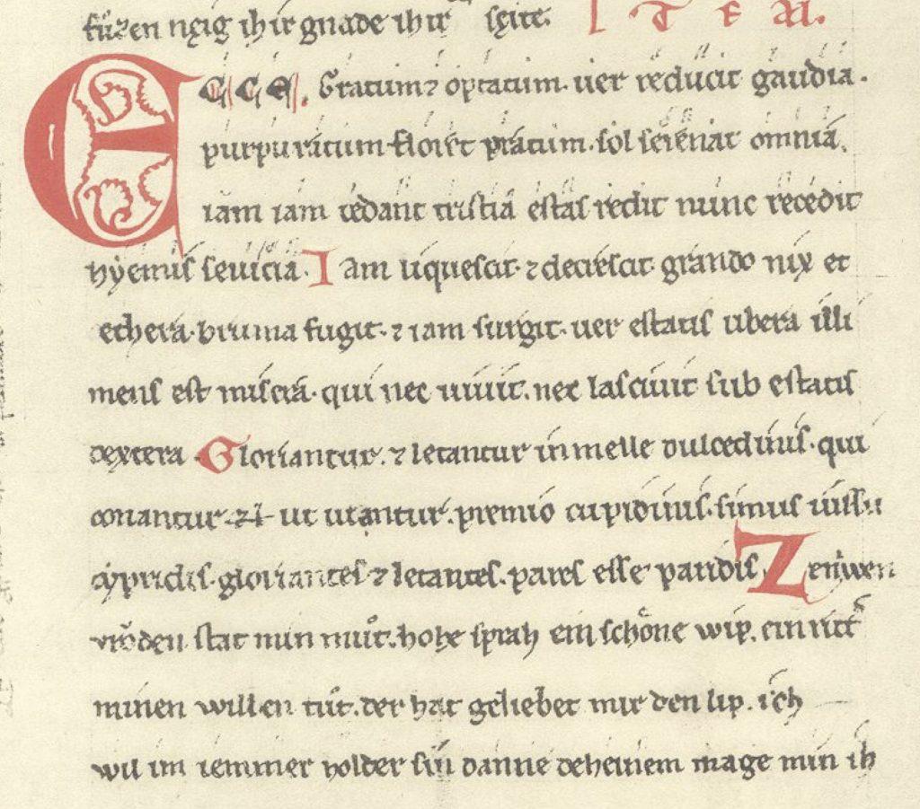 Ecce gratum in the manuscript